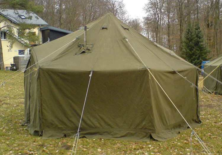 "VINYL GENERAL PURPOSE SMALL TENT (GP SMALL 17'6"" X 17'6"") NSN (8340-00-470-2335)"