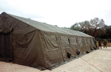 TEMPER TENT (20u2032 X 48u2032) Reconditioned Green With Liner & TEMPER TENT (20u2032 X 48u2032)
